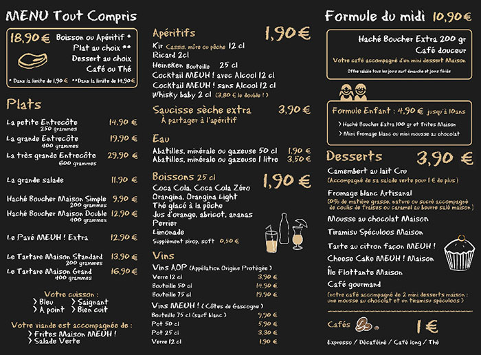 Conseils d'experts pour la conception de carte de restaurant