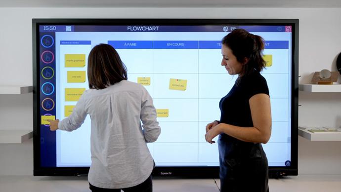 L'écran interactif est l'outil favorisé en gestion de projet